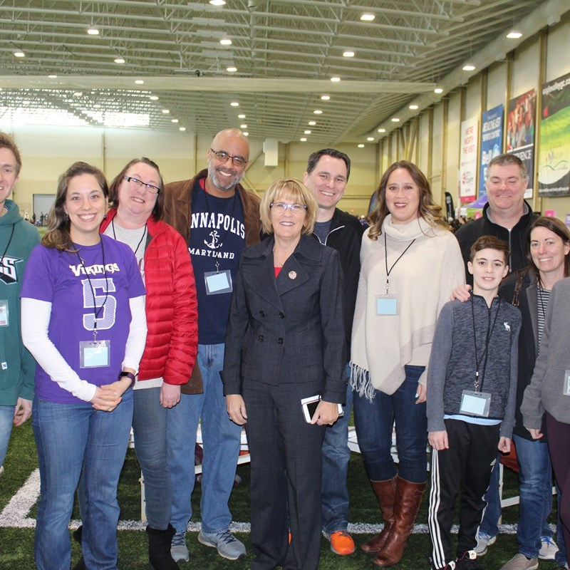 Council at Celebrity Sweat Event at Healtheast Sports Center