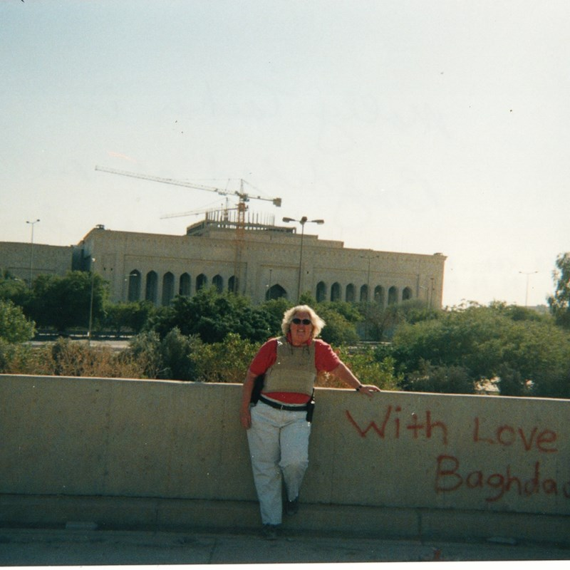 Molly in Baghdad as an independent contractor consultant with the U.S. Intelligence Community