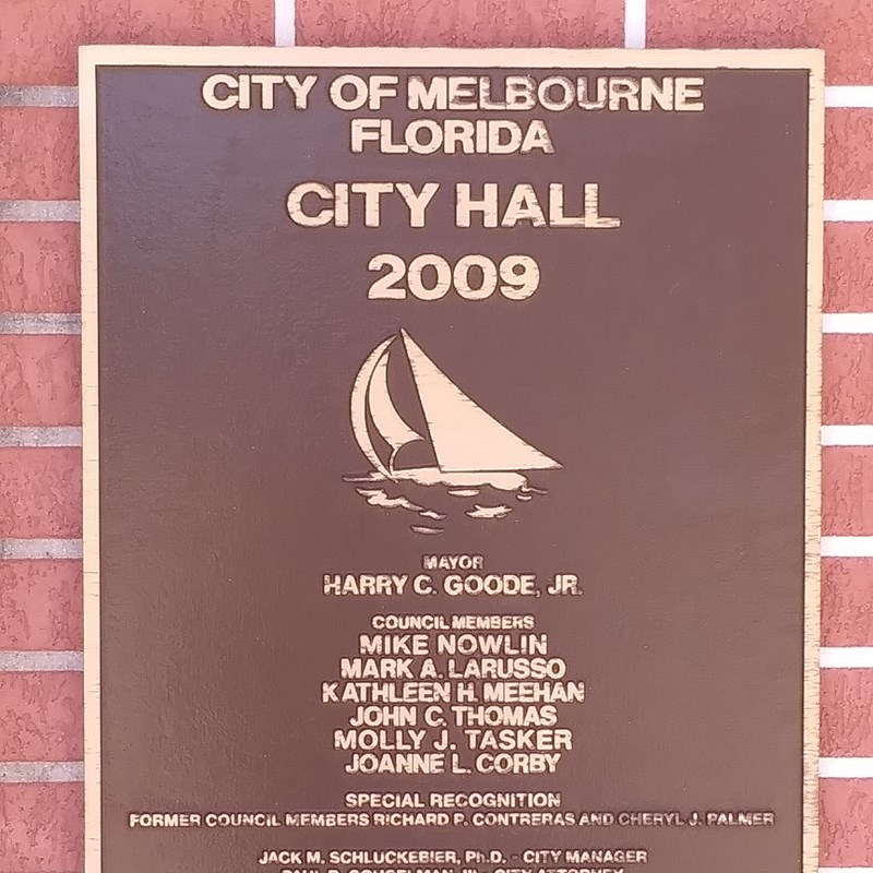 City Council Members and others Commemorated on new City Hall Plaque 2009