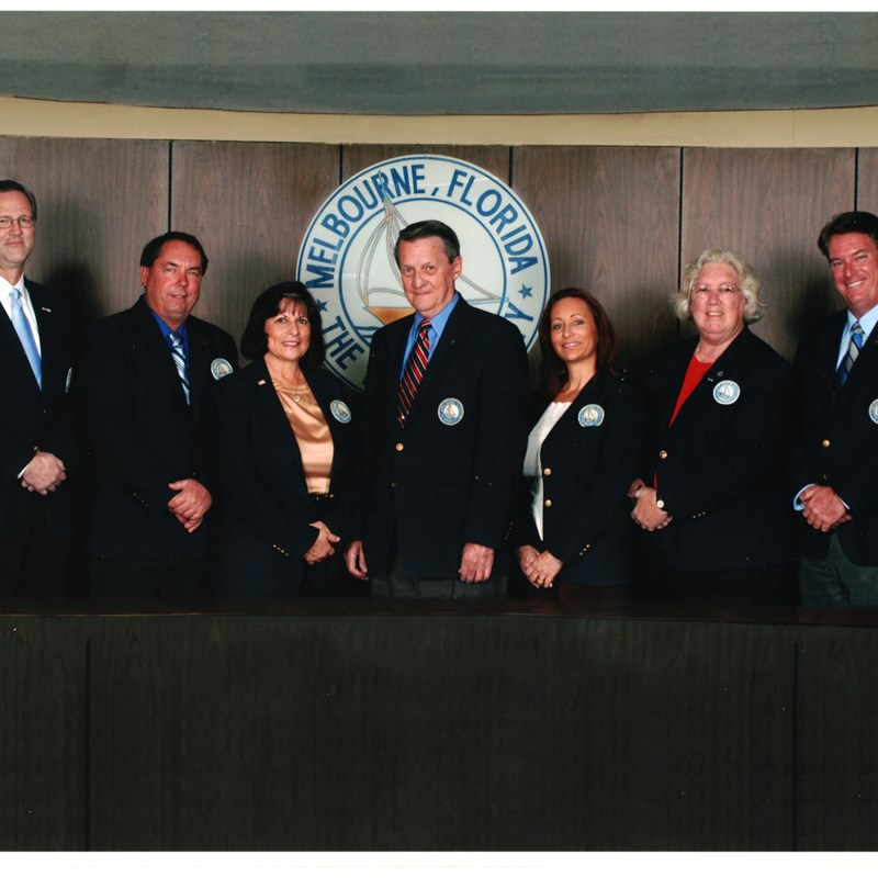Molly, second from right, with the Melbourne City Council Members 2008-2012