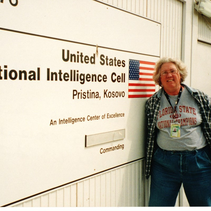 Molly in Kosovo as an independent contractor consultant with the U.S. Intelligence Community