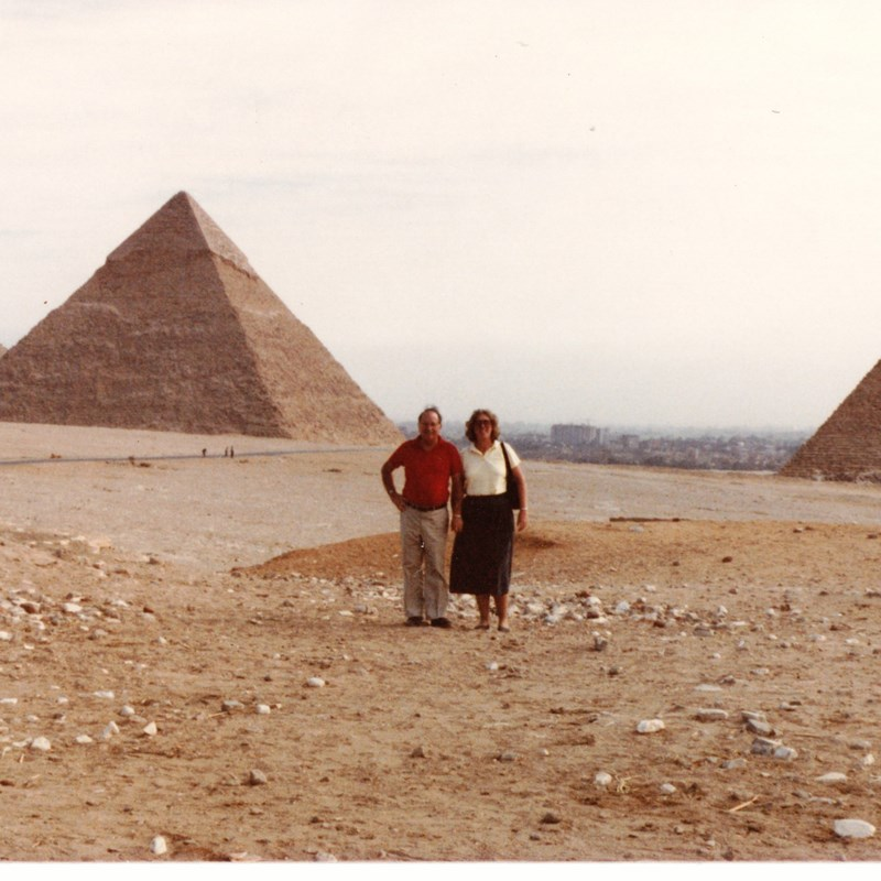 Molly and late husband Dickie in Egypt