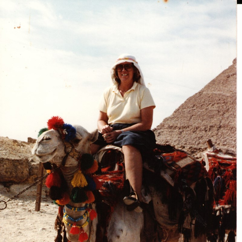 Molly visiting Egypt, Late 1980's
