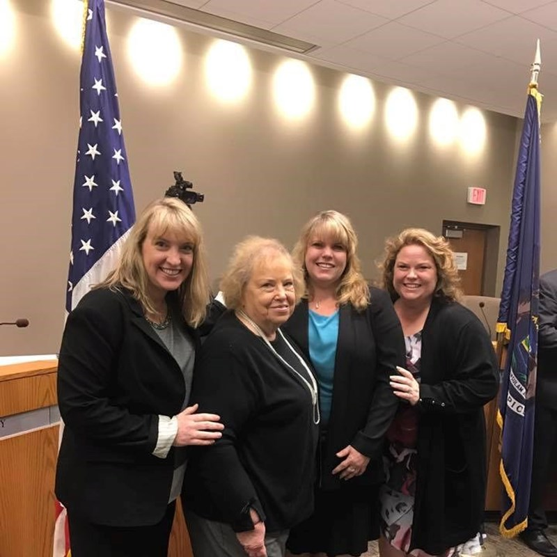 Inauguration Day with her mom and sisters.  From L to R: Cathy McCotter, Geri Walsh, Dani Walsh, Toni Burns.