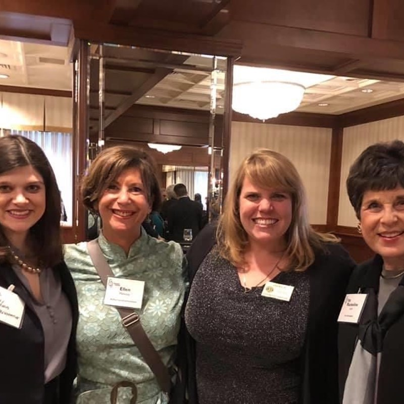 Female leaders at a Legislative Reception, From L to R: Haley Stevens, Ellen Mahoney, Dani Walsh, and Rackeline Hoff.
