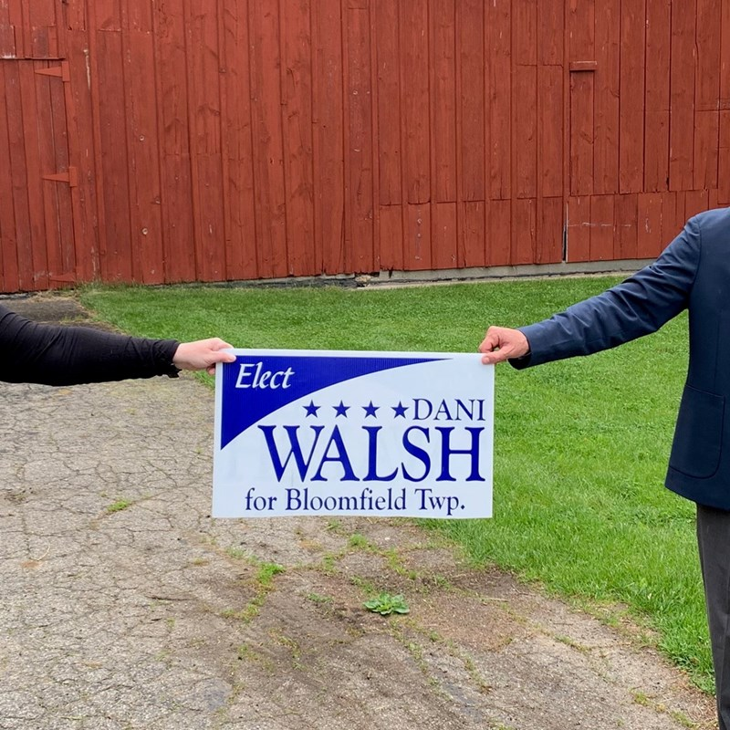 Scott Nadeau (right) joins Dani Walsh's campaign for Township Supervisor.