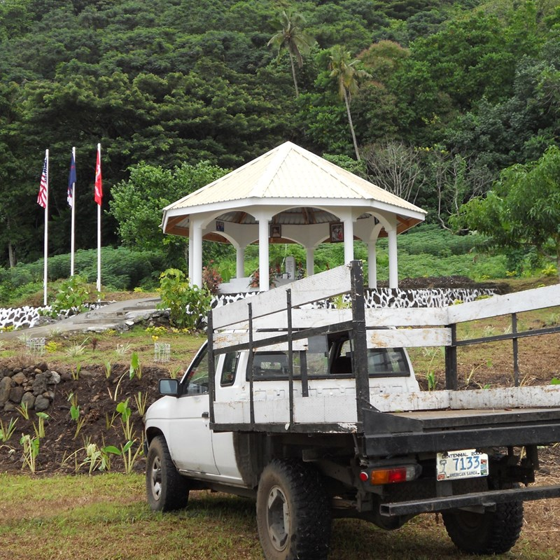 Dad's work truck at his final resting place 2010 Malaeimi, American Samoa
