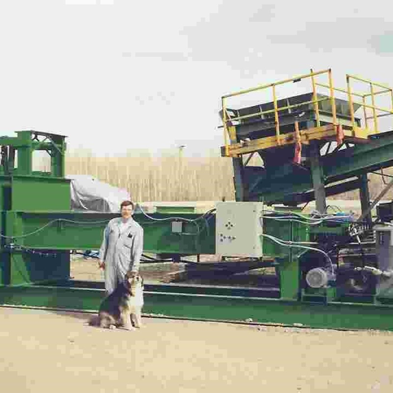 Metal Baler, first major project I built at the shop.  I am 41 here, with Elsie.