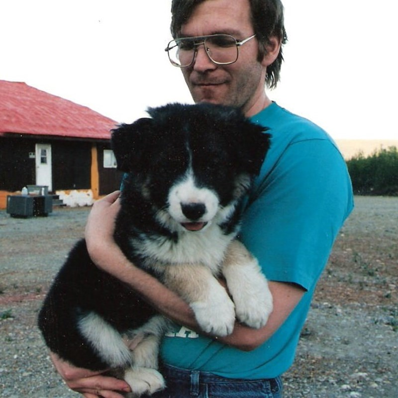 With My Puppy Elsie, when I was only 35