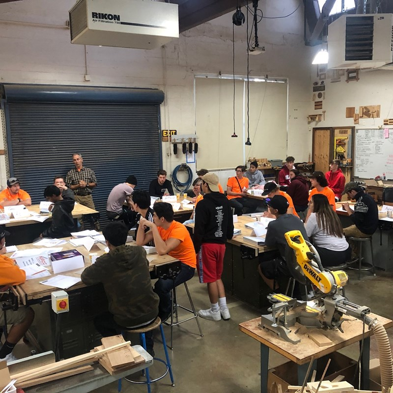 Construction Corps Training at Analy High School Early 2020