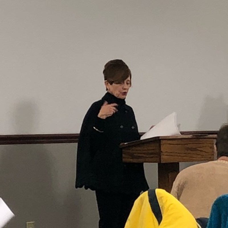 President Tomie Patton opens the February 11th meeting