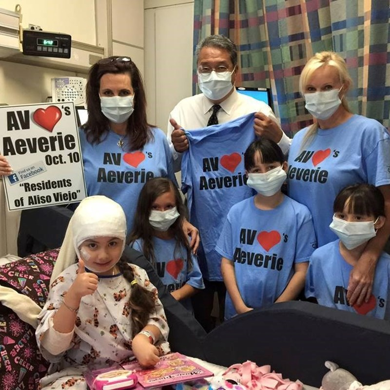 Local youth Aeverie recovers from illness at Mission Hospital while the community raises funds for her support.